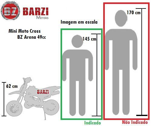 7619286fa85 Imagem de Mini Moto Cross 49cc BZ Arena Verde automática partida a corda