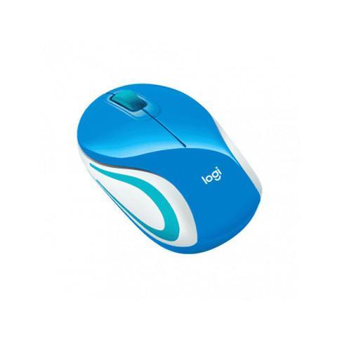 Mouse Wireless Óptico Led 1000 Dpis M187 Azul 910-004176 Logitech