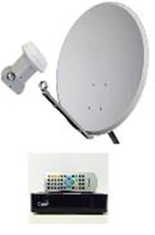 Imagem de Mini Parabolica Claro Tv Pré-Pago Mercantil  1 Receptores Digital + Antena 60 cm Lisa