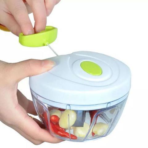 Imagem de Mini Processador de Alimentos Manual Triturador e Cortador