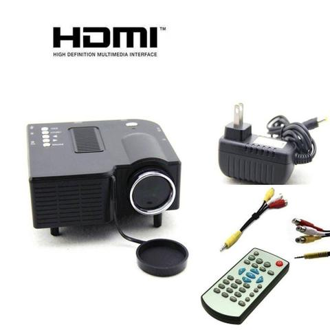 Imagem de Mini Projetor De Led Portatil Data Show Hdmi Filmes Usb Sd