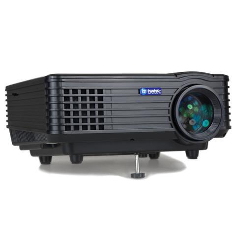 Imagem de Mini Projetor Led Portátil Betec - 1200 Lumens - 120 Pol. - Tripé - Entrada HDMI, VGA, AV-RCA e USB