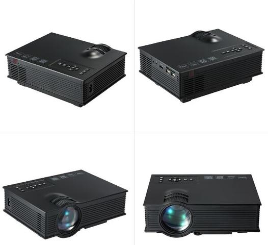 Imagem de Mini Projetor Led Profissional 1200 Lumen Wifi Miracast Uc46