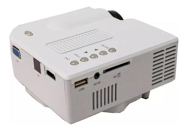 Imagem de Mini Projetor Portátil 1920x1080 Led Usb/sd/hdmi H80 Uc-28 B