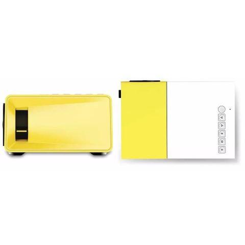 Imagem de Mini Projetor Portátil 600 Lumes HD Yg-300 Hdmi USB