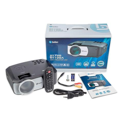 Imagem de Mini Projetor Portatil Led - Betec BT728 - 2200 Lumens - HD Nativo - HDMI, VGA, AV, SD e USB