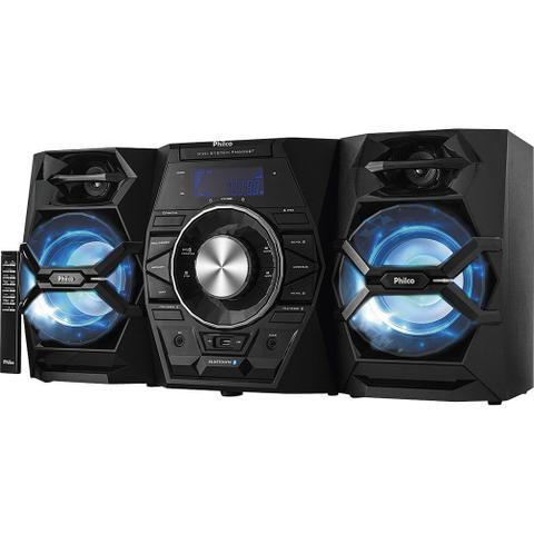 Imagem de Mini System com CD. MP3. Bluetooth. Potência 500W RMS. Entradas USB e Auxiliar Philco PB600BT