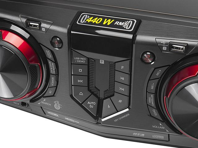 Imagem de Mini System LG Bluetooh USB MP3 CD Player 440W - Karaokê CJ44 X Boom