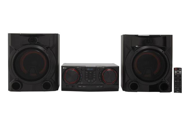 Imagem de Mini System LG Bluetooth Dual USB MP3 CD Player - Rádio AM/FM 810W Karaokê X Boom CJ65