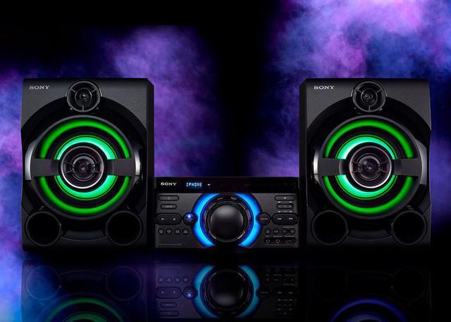 Imagem de Mini System MHC-M60D com DVD integrado, conexão HDMI ARC, Efeitos de DJ,  Karaokê  e 1600 W RMS M60D