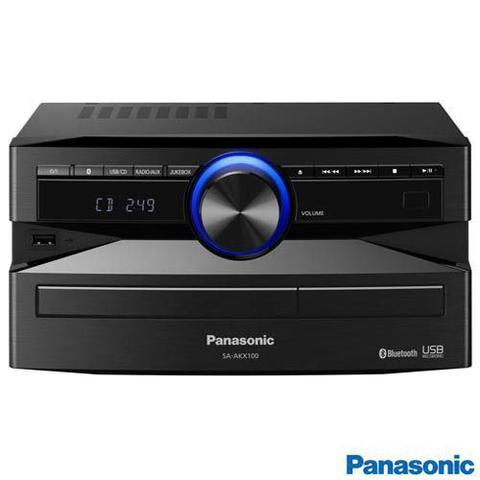 Imagem de Mini System Panasonic com Bluetooth, USB e 250W RMS de Potência - SC-AKX100LBK