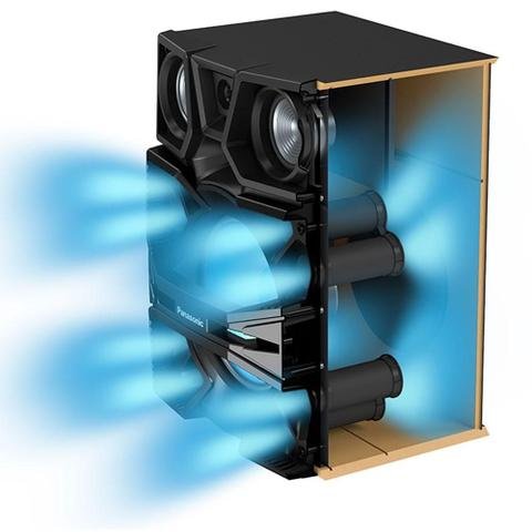Imagem de Mini System Panasonic SC-MAX9000LB, 2 USB, Bluetooth, NFC, Max Juke, 3300W RMS