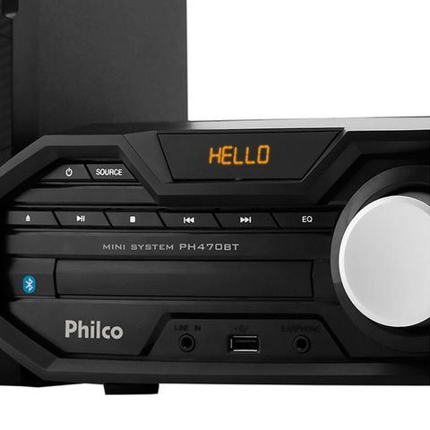 Imagem de Mini System PH470BT Entradas USB e Auxiliar, Bluetooth, Rádio FM, 400W RMS - Philco