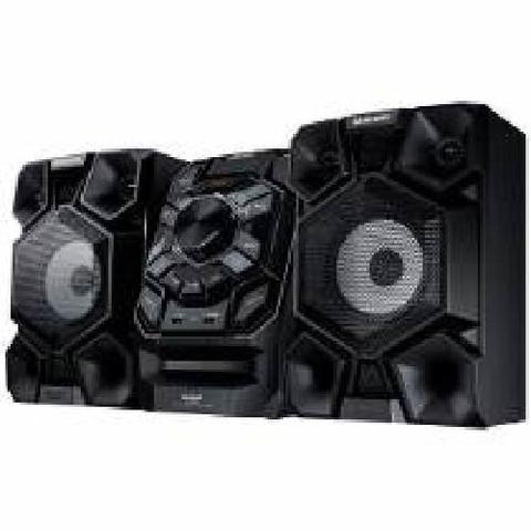 Imagem de Mini System Samsung MX-J650/ZD com MP3, Bluetooth, Duplo USB, Entrada Auxiliar, Giga Sound e Ripping  440 W