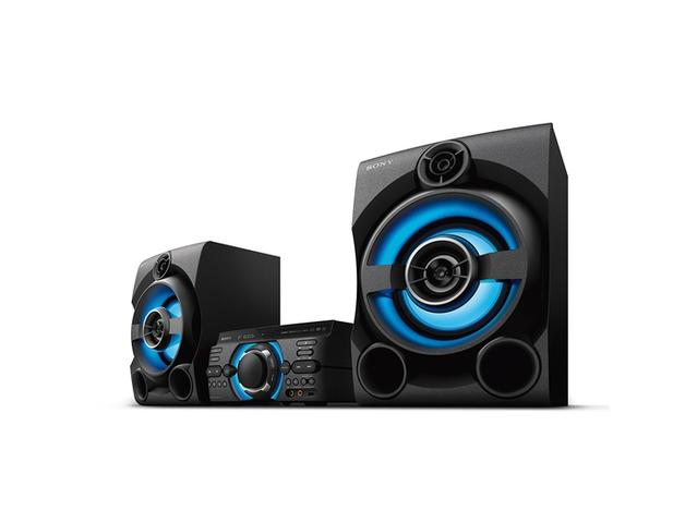 Imagem de Mini System Sony MHC-MD60 1600W, USB, MP3, FM, Bluetooth, Karaokê, Função DJ, DVD Integrado