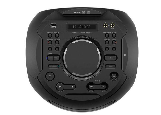 Imagem de Mini System V42D Muteki tipo torre com DVD, controle por gestos e por voz, iluminação frontal MHC V42D