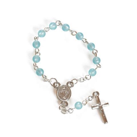 Imagem de Mini Terço Lembrancinha Meu Batizado Azul Cromus 8 unidades