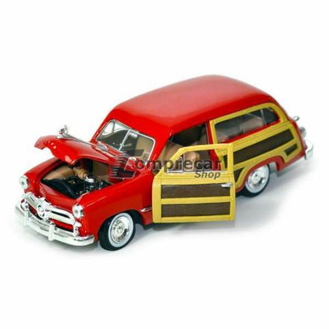 Imagem de Miniatura Ford Woody Wagon 1949 Vermelho Motormax 1/24