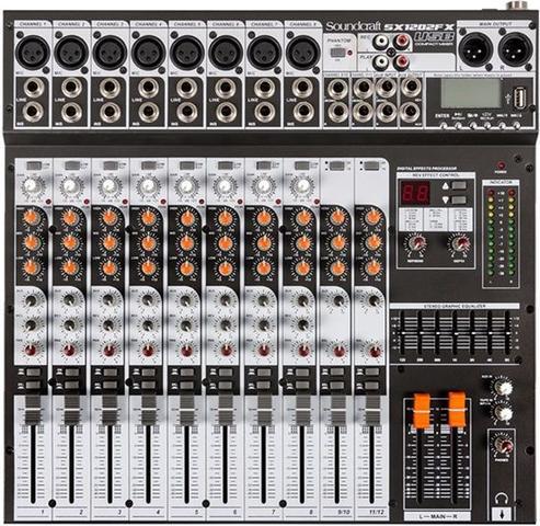 Imagem de Mixer Analogico Soundcraft SX1202FX USB 12 Canais