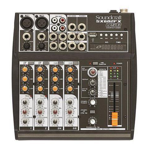 Imagem de Mixer Analogico Soundcraft SX602FX 6 Canais USB