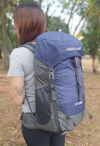 Imagem de Mochila 33l resistente impermeável trilha pesca viagem camping motoboy