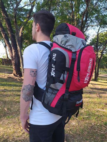 Imagem de Mochila 55l resistente viagem camping trilha pesca impermeável