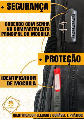Imagem de Mochila Anti-Furto Feminina Masculina Usb/Fone Resistente a Agua Alto Padrão