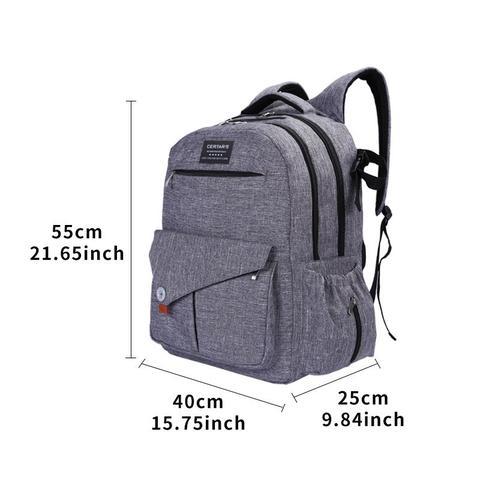 Imagem de Mochila bolsa maternidade importada multifuncao impermeavel dupla com porta notebook com trocador e