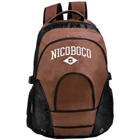 000bc6166 Imagem de Mochila de Costas Para Notebook Nicoboco - Preto e Vinho - Xeryus