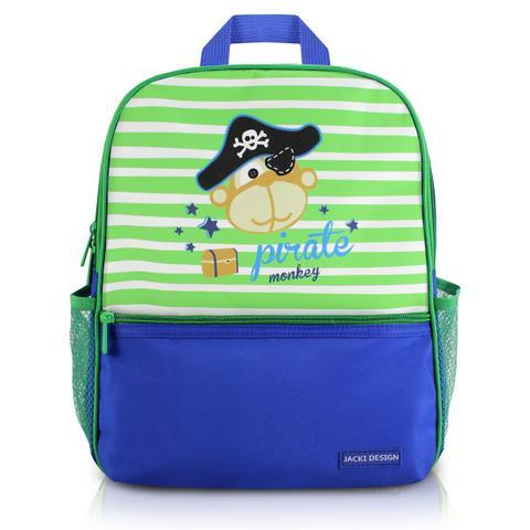 Imagem de Mochila escolar infantil criança bolsos laterais menino jacki design pirata