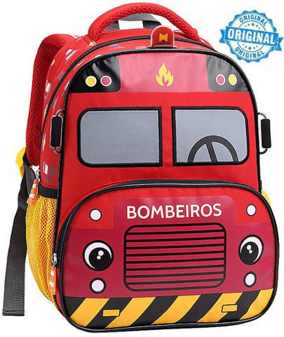 63e5bc05c5 Imagem de Mochila Escolar Polícia Táxi Bombeiro Masculina Infantil  Resistente Pequena Menino Seanite