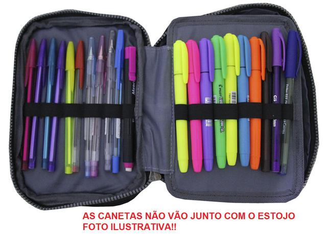 Imagem de Mochila Feminina Notebook Costas Escolar Juvenil Mh3172 Kit