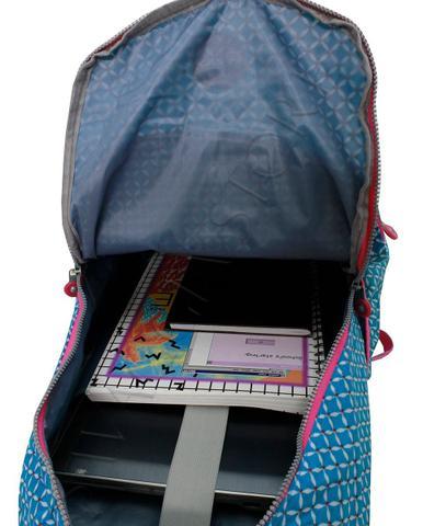 Imagem de Mochila Feminina Notebook Juvenil Escolar Costas M3689 + Kit