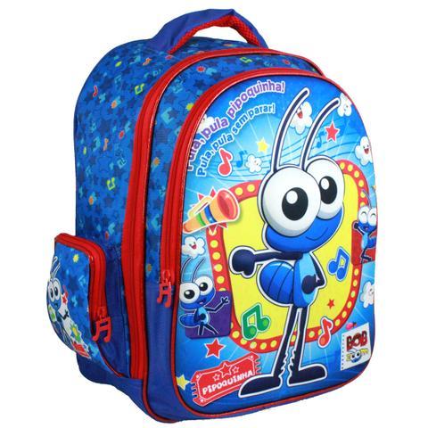 bd235a53e6 Imagem de Mochila Infantil de Costas Bob Zoom Pipoquinha BZ7146J - Azul e  Vermelho. Carregando.