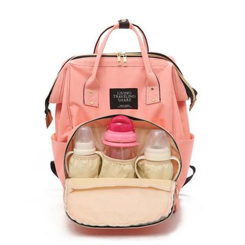 Imagem de Mochila Mala Bolsa Maternidade Multiuso Multifuncional Mamadeira Rosa Pink