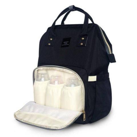 Imagem de Mochila Original Mamãe Maternidade Bolsa Impermeavel Alta Durabilidade Preta Vários Compartimentos