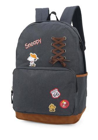 Imagem de Mochila Peanuts Snoopy Notebook Original Bottons Cinza