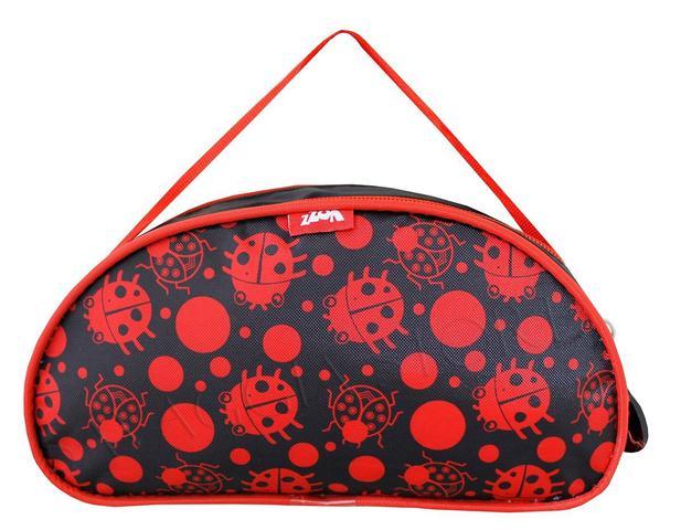 Imagem de Mochila Rodinhas Menina Escolar Ladybug Infantil M3502 + Kit