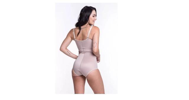 Imagem de Modeladora Macaquinho Bermudinha Corpete Biobela Alta Compressão Pós Cirúrgico Operatório Reduz Medidas Comprimi Cintura