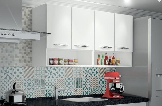 Imagem de Módulo Aéreo 4 Portas 1,20m Armário Parede Cozinha Multiuso