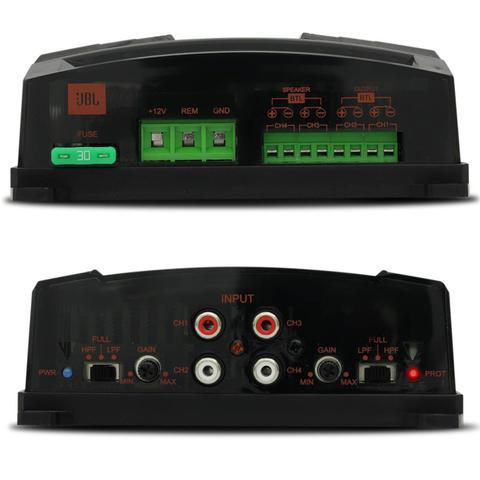 Imagem de Módulo Amplificador JBL Selenium BR-A 400.4 400W RMS 4 Canais 2 Ohms + Cabo RCA Stetsom 5M 2mm