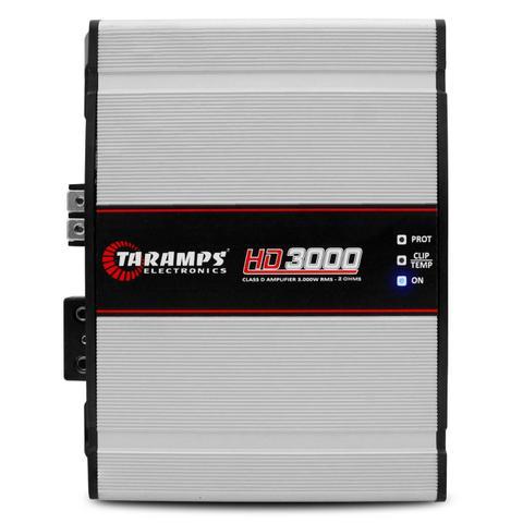 Imagem de Módulo Amplificador Taramps HD 3000 3000W RMS 1 Canal 2 Ohms Classe D + Cabo RCA 4mm 5m