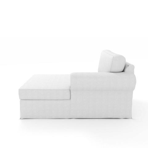 Imagem de Módulo de Sofá Chaise Lado Esquerdo com capa Capa Juliette II de Sarja Branco