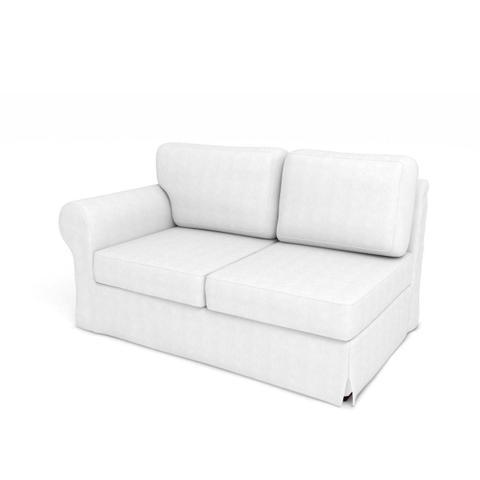 Imagem de Módulo de Sofá de 2 Lugares Lado Direito com capa Juliette II de Sarja Branco