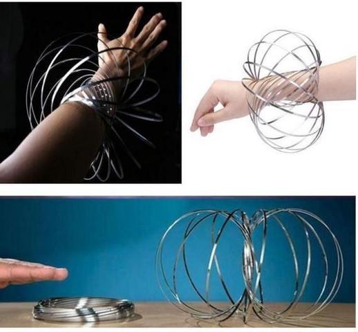 Imagem de Mola Metal Brinquedo satisfatório Para Criança Magic Ring Interativa Manobras