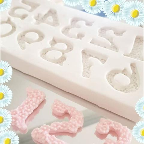 Imagem de Molde de silicone alfabeto florido confeitaria biscuit f582