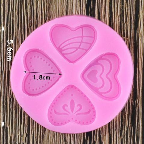 Imagem de Molde de silicone coração para decorar f309