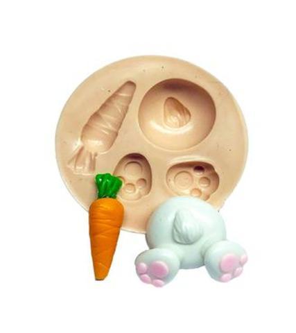 Imagem de Molde de silicone mini coelho cenoura para decorar f478
