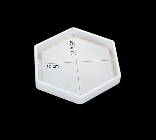 Imagem de Molde De Silicone Resina Hexagonal Porta Copos Quadros