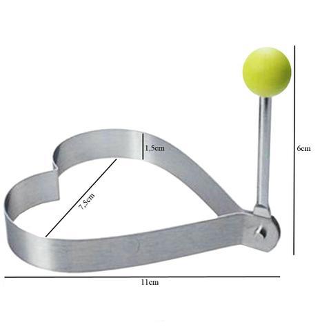 Imagem de Molde Forma para Fritar Ovo Panqueca Omelete Modelador Inox